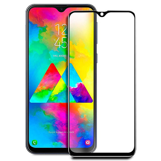 Samsung A50 Black Tempered Full Glass