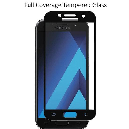 Samsung J2 prime Black Tempered Full Glass