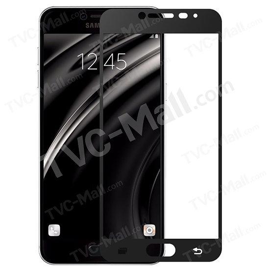 Samsung C5 Pro white / Black Tempered full Glass