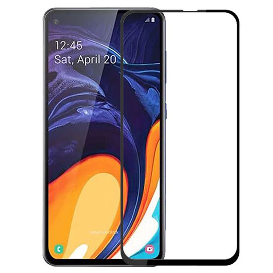 Samsung A60 Black Tempered Full Glass