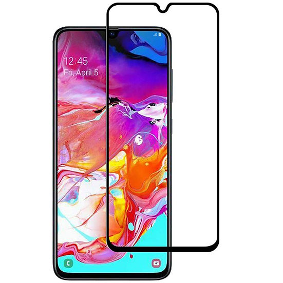 Samsung A70 Black Tempered full glass