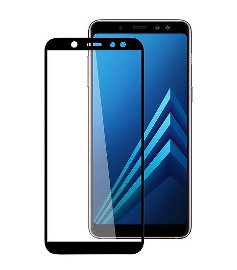Samsung A6 Black Tempered Full Glass