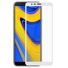 Samsung J4 plus black/ white Tempered Full Glass