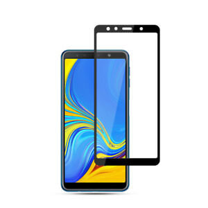 Samsung A750 Black Tempered  Full glass