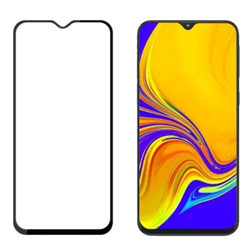 Samsung A20s Black Tempered Full Glass