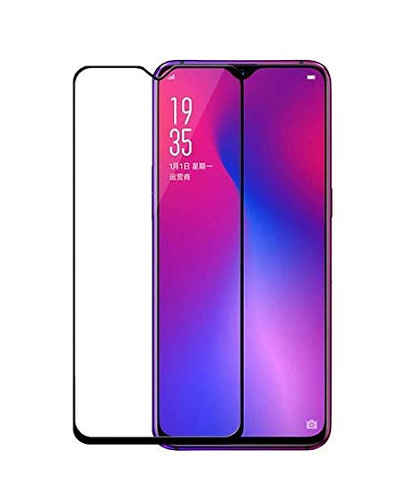 Samsung A10 Black Tempered Full glass