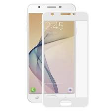 Samsung J5 Prime white Tempered Full Glass