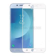 Samsung J5 pro black / white  Tempered  full glue