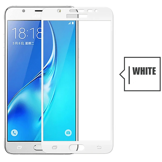 Samsung  J2 prime white Tempered Full Glass