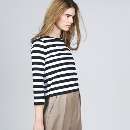 Copy of A guide to matching stripes and sewing stretch fabric.