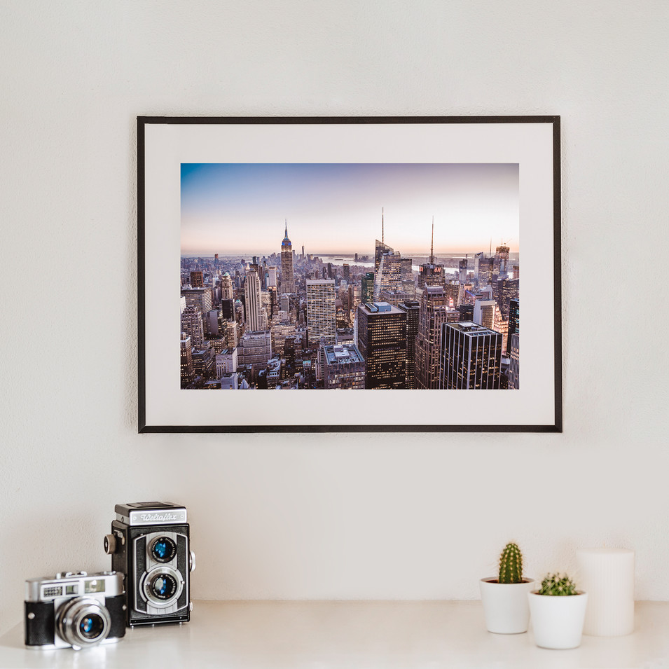 Sunset over New York   New York