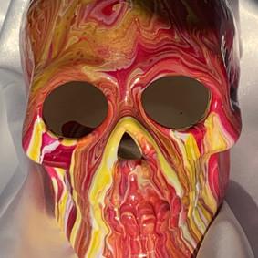 POrange and red skull $30