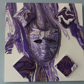 "Purple Drift 20"" x 20"" ($240)"