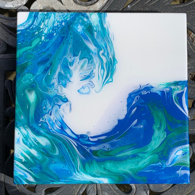 """More Waves 12"""" x 12"""" - SOLD"""