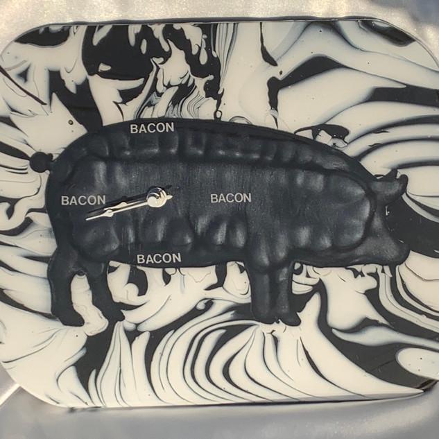 Bacon, Bacon, Bacon Bacon Clock $80