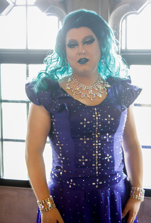 Drag queen, blue, Beeka Lovelace Peron