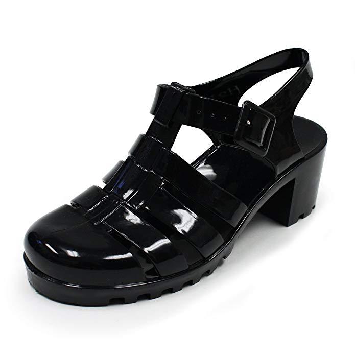 Women Summer Retro Jelly Slingback Sandals