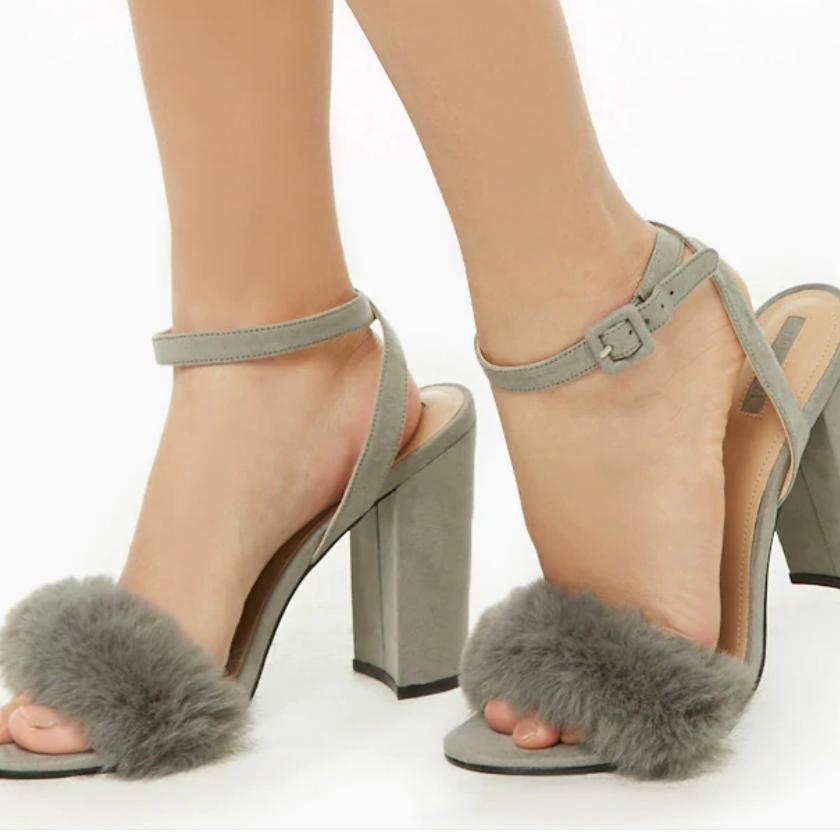 Forever21 – Faux Fur Block Heels