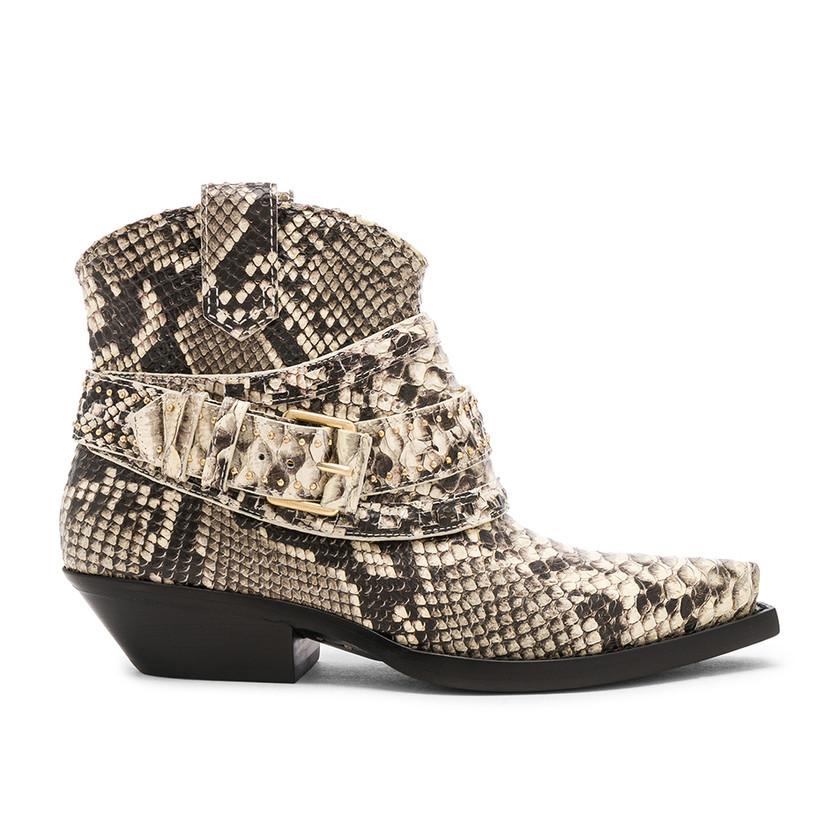 Zimmerman – Snakeskin Embossed Cowboy Boots
