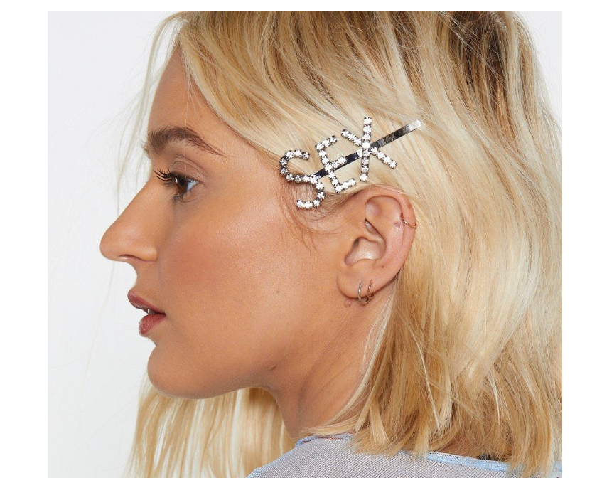 Nasty Gal – Sex Diamante Hair Clip