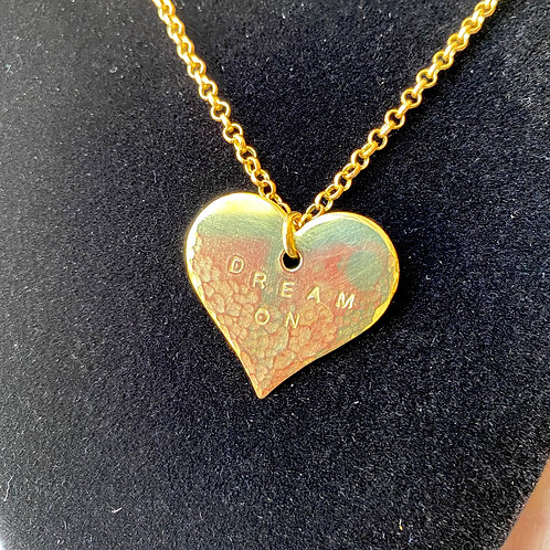 Dream On // heart necklace