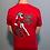 "Thumbnail: Men's red short sleeve shirt ""Zuul"" design"