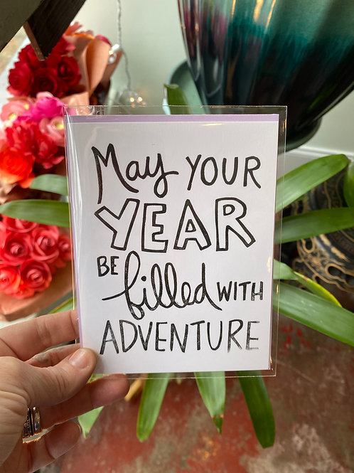 May your year be filled with adventure // greeting card