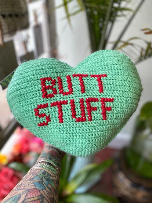 """""""Butt Stuff"""" // hand-knitted pillow"""