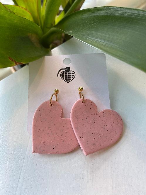 Pink Hearts // earrings