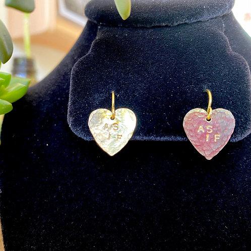 As If // heart earrings