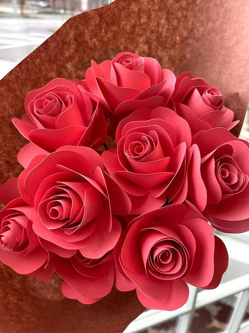 Flamingo roses // paper flower bouquet