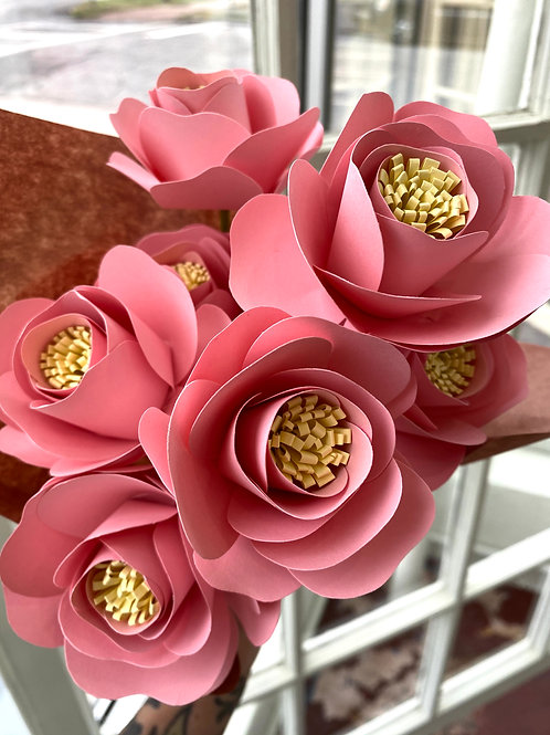 Baby pink roses // paper flower bouquet