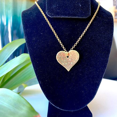 U R cute // heart necklace