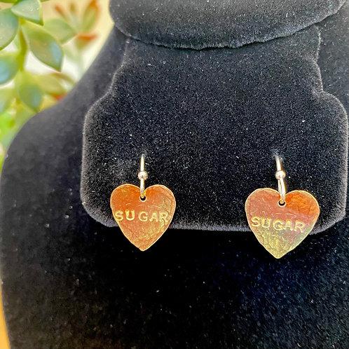 Sugar // heart earrings