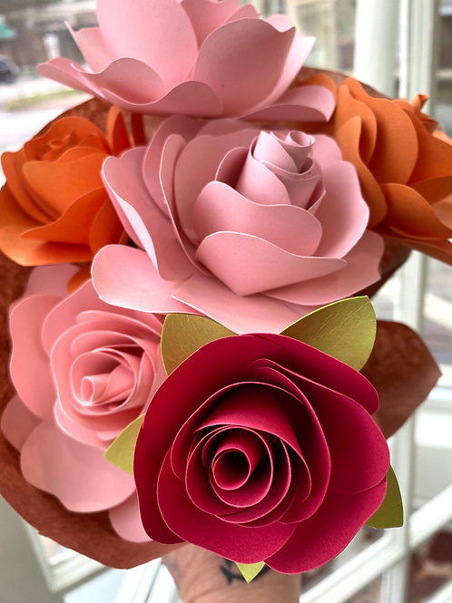 """""""Spring is here!"""" // paper flower bouquet"""