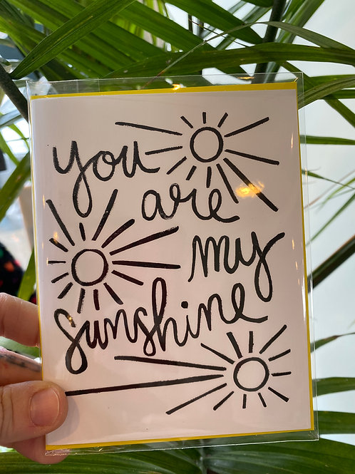 """""""You are my sunshine"""" // greeting card"""