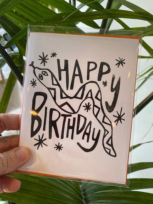 """Happy birthday"" // greeting card"