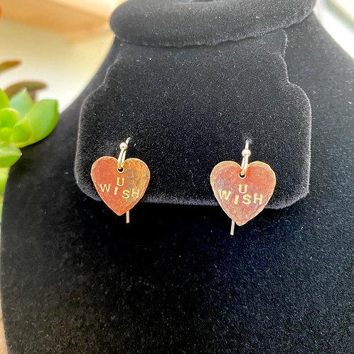 U Wish // heart earrings