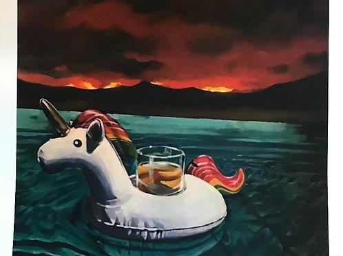 #swimmingpoolsandmoviestars // unicorn floaty