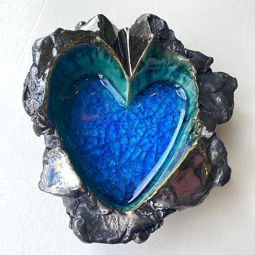 Ceramic heart // jewelry tray
