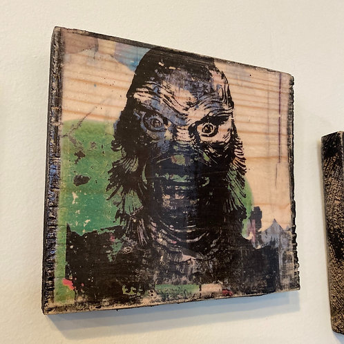 """""""Creature from the Black Lagoon"""" // photograph // mixed media // on wood"""