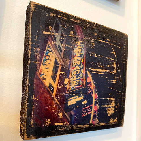 The Tabernacle sign // photograph // mixed media // on wood