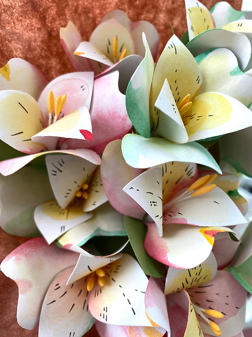 """Sunday lilies"" // paper flower bouquet"
