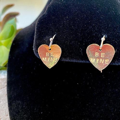 Be Mine // heart earrings
