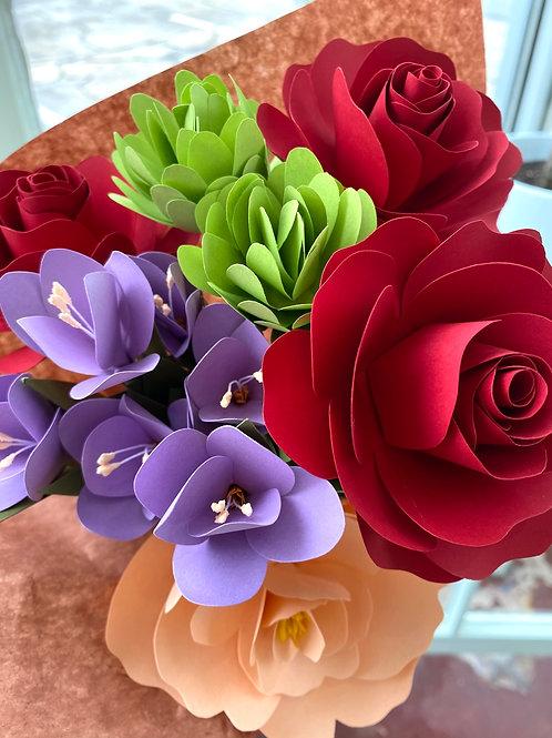 Multi-color // paper flower bouquet