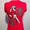 """Thumbnail: Women's red short sleeve shirt """"Zuul"""" design"""