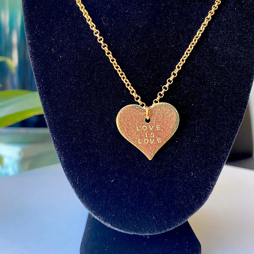 Love is Love // heart necklace
