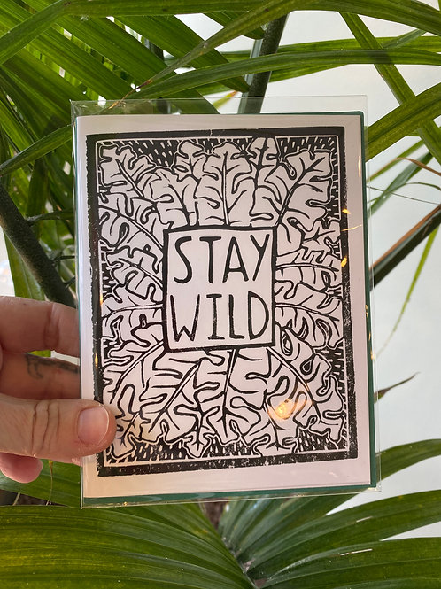 """Stay wild"" // greeting card"