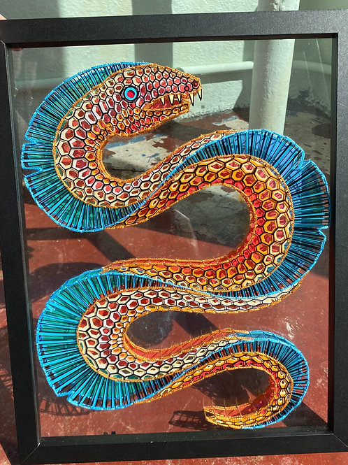 """""""COSMIC EEL"""" // three dimensional embroidered painting"""
