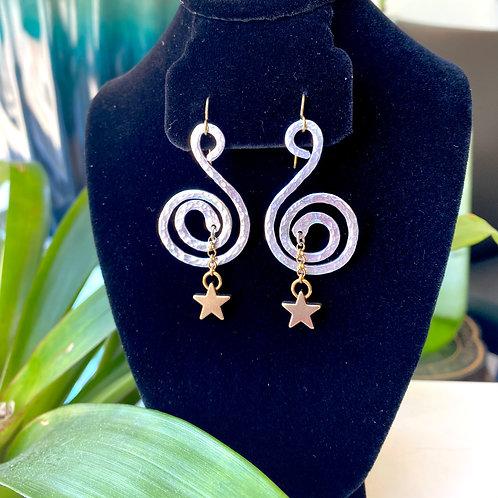 Star swirl // earrings